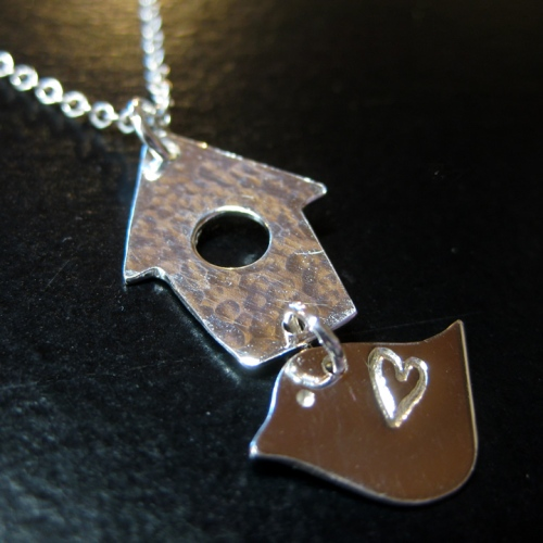 twitcher jewellery birdhouse lovebird birdwatcher necklace
