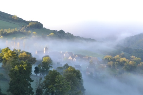 Aveyron in the clouds